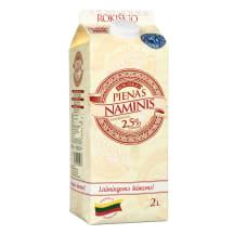 Rokiškio NAMINIS pienas, 2,5%, 2l (tetra)