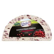 Sūris su spanguolėmis WENSLEYDALE, 43%, 1 kg