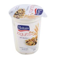 Jogurts Baltais ar musli 2% 380g