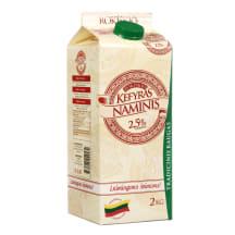 ROKIŠKIO NAMINIS kefyras, 2,5 % rieb., 2 kg