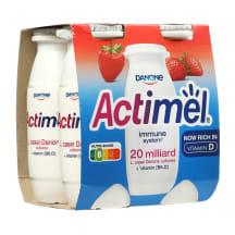 Braškių jogurt. gėrimas ACTIMEL, 1,5%, 4x100g