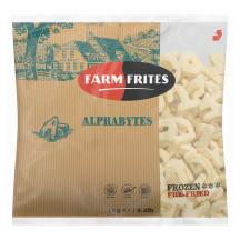 Šaldytos bulvytės FARM FRITES ALPHABYTES, 1kg