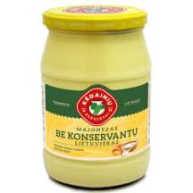 Lietuviškas majonezas be konserv., 61%, 630g