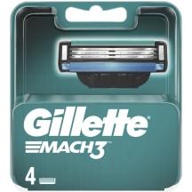 Skustuvo galvutės GILLETTE MACH 3, 4vnt.