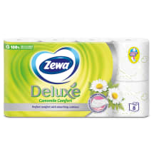 Tualettpaber Zewa Deluxe 8 rulli