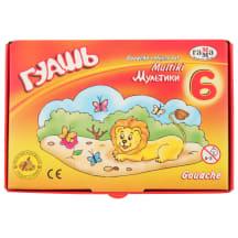 Guašo dažai GAMMA Multiki 6 spalvų