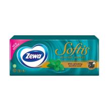 Vien.nos.ZEWA SOFTIS MENTHOL,4sl,10x9vnt