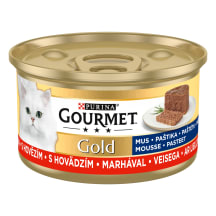 Kons. kaķiem Gourmet gold liellopu 85g