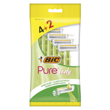 Skustuvas BIC PURE3 LADY P6 BAG, 4+2vnt.