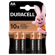Baterija DURACELL LR06 AA, 4vnt