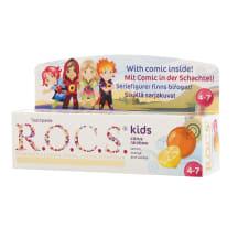 Zobu pasta Rocs Kids citr.,apels.,vaniļa 35ml