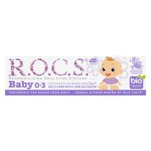 Hambapasta Rocs baby pärnaõie 0-3a. 45g