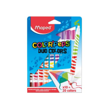 Flomasteri ColorPeps Duo 10=20gab.
