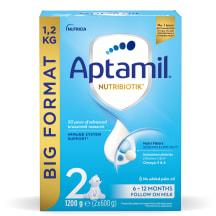 Pieno mišinys APTAMIL 2, nuo 6 mėn., 1,2kg
