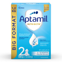 Piena mais. Aptamil 2 Economy no 6 mēn. 1,2kg