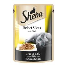 Kačių ėdalas su vištiena SHEBA, 85g