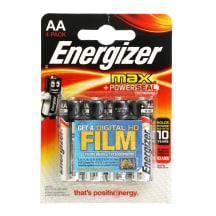Baterija ENERGIZER MAX LR06 AA, 4 vnt.