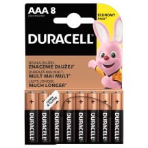 Baterijos DURACELL AAA, LR03, 8 vnt.