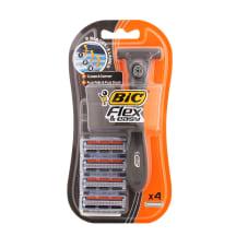 Skuveklis Bic Flex Easy ar 4 kārtridžiem