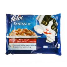 Konservi kaķiem Felix gaļas izlase 4x100g