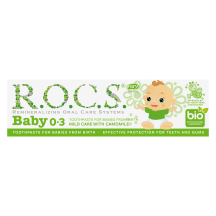 Vaik.dantų pasta ramun., R.O.C.S. 0–3m., 35ml