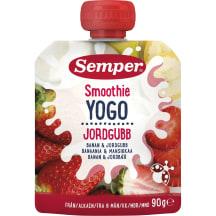 Geriam. jogurtas braš.ban., SEMPER, 6mėn.,90g