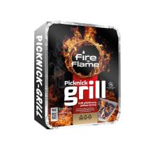 Vienk.grilis FIRE&FLAME su briketais