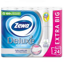 Tual.pop. ZEWA DELUXE PURE WHITE, 3sl. 24rit.