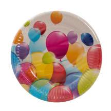 Papīra šķīvji 19.5cm 10 gab balloons