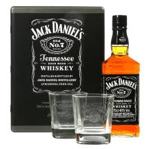 Viskis JACK DANIEL'S,met.dėž.+2 stik.40%,0,7l