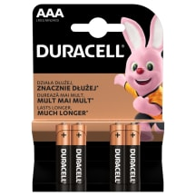 Baterijas DURACELL AAA LR03 4gab