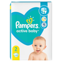 Sauskelnės PAMPERS NEW BABY VP+2,3-6kg,43vnt.