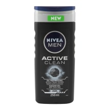 Vyr. dušo želė NIVEA MEN ACTIVE CLEAN, 250ml