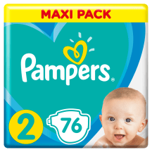 Sausk., PAMPERS NEW BABY VP+2, 3-6kg, 76 vnt.