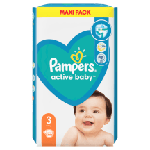 Sausk., PAMPERS ACTIVE DRY VP+3, 4-9kg,66vnt.