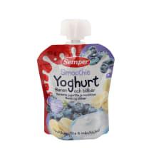 Püree Semper ban-mustika-jogurti 6k,90g