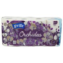 Tualetes papīrs Grite Orchidea 8 ruļļi