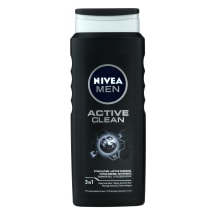 Vyr. dušo želė NIVEA MEN ACTIVE CLEAN, 500ml