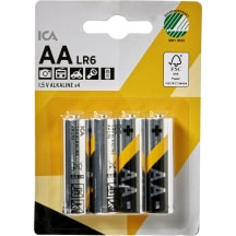Baterijas Ica Home LR06 AA X4 clips