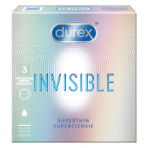 Prezerv.DUREX INVISIBLE EXTRA SENSATIVE,3vnt.