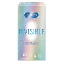 Prez., DUREX INVISIBLE EXTRA SENSITIVE, 10vnt