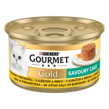Kačių ėdalas su vištiena GOURMET GOLD, 85g
