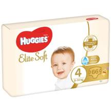 Sauskelnės HUGGIES ELITE SOFT 4, 8-14kg,66vnt