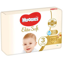 Autiņbiksītes Huggies Elite Soft 3 80gb