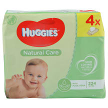 Mitrās salvetes Huggies Aloe quadro 56x4gb