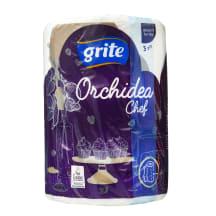 Popierin. rankšl. GRITE ORCHIDEA, 3sl., 1rit.