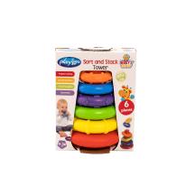 Žaislas piramidė su žiedais PLAYGRO