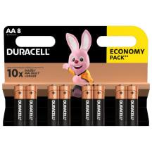 Baterijos DURACELL AA, LR6, 8 vnt.
