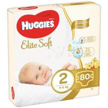 Sauskelenės HUGGIES ELITE SOFT, 2 dyd., 80vnt
