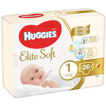 Autiņb. Huggies Elite Soft nb 2-5kg 26gb